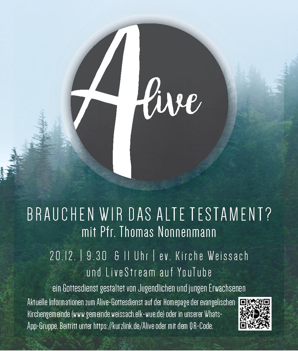 Alive-Gottesdienst am 20.12