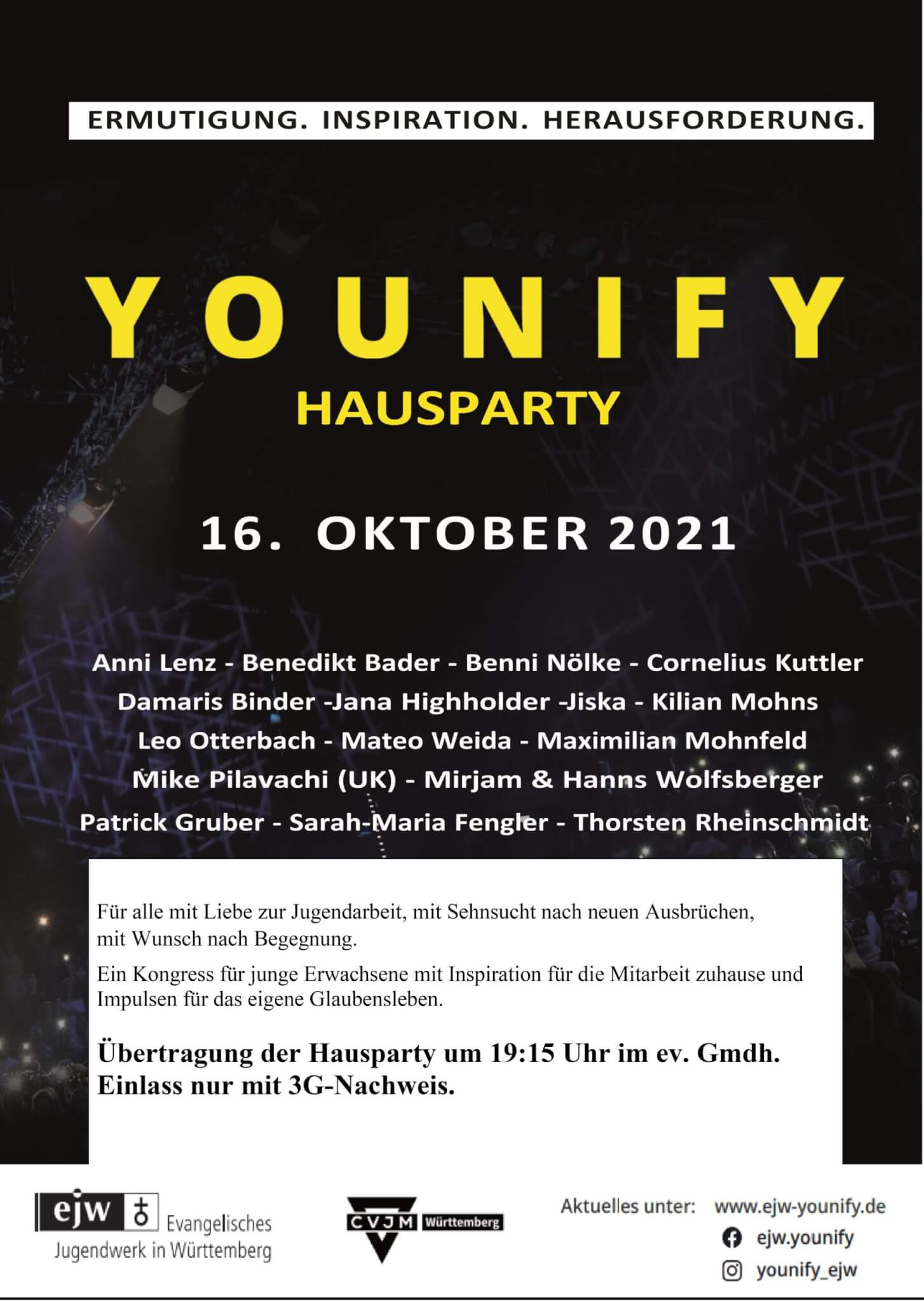 YOUNIFY – Hausparty am 16.10.